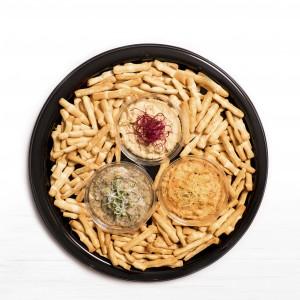 "Plateau ""Crackers & hoummous"" 40 cm"