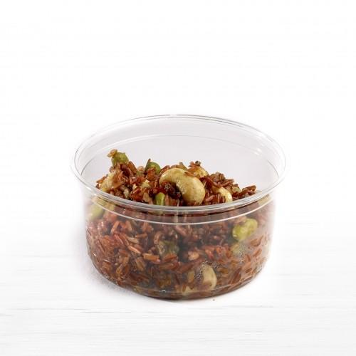 Red Quinoa, Carrot Houmous, Almonds